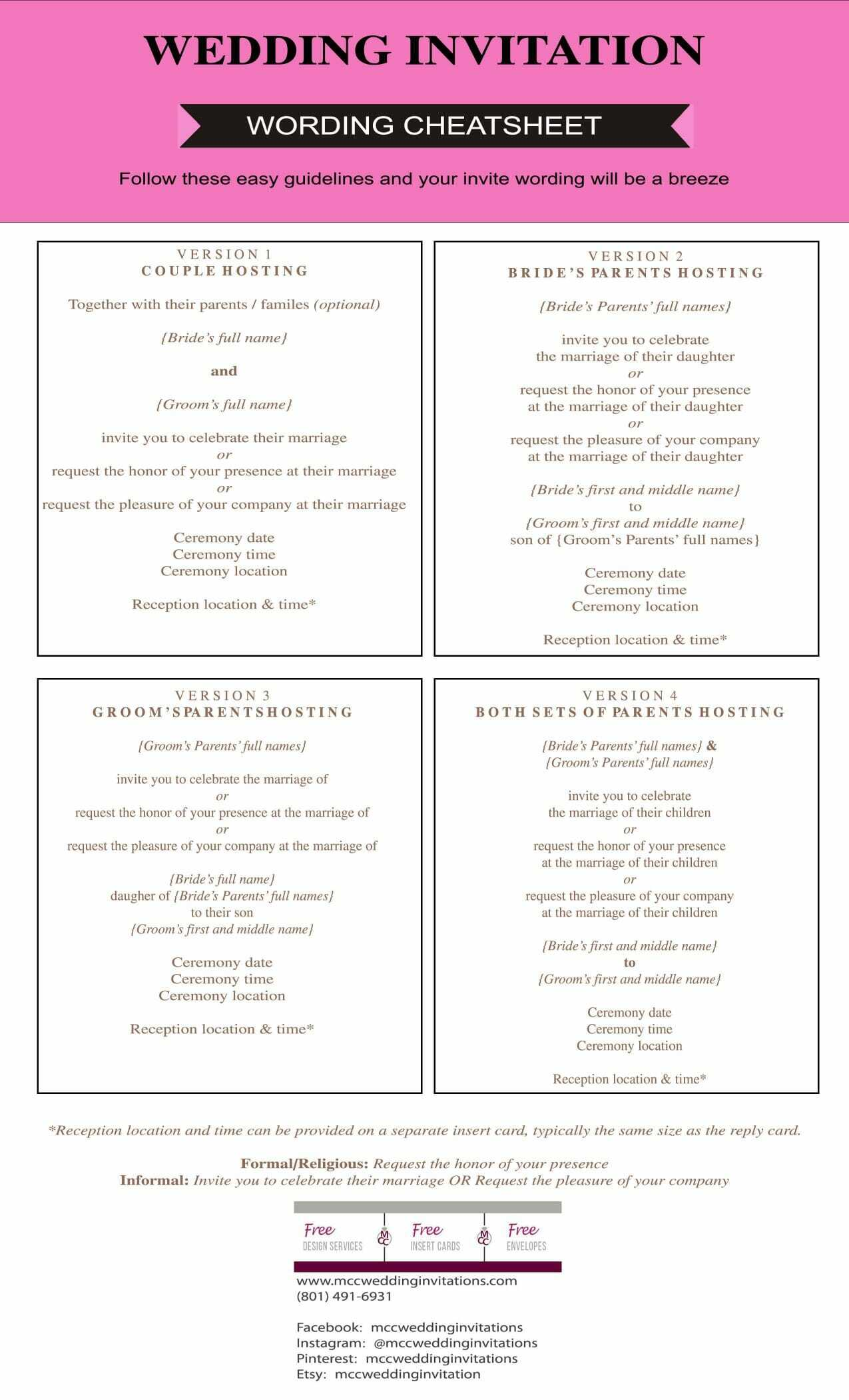 Wedding Invitation Etiquette Guide - MCC Wedding Invitations: We ...